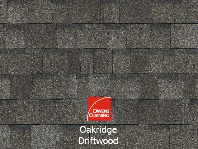 Owens Corning Shingles Is Driftwood These Have A Wind Resistance Rating Of 110 130 MPH And An Algae 10 Years